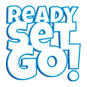 Ready Set Go text